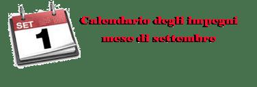PAA CALENDARIO IMPEGNI SETTEMBRE 2021