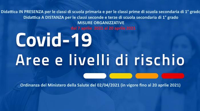 ORDINANZA Ministero della Salute del 2 aprile 2021 Disposizione dirigenziale: ORGANIZZAZIONE ORARIA e misure organizzative dal 7 aprile 2021 al 20 aprile 2021